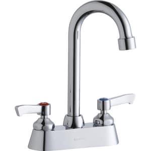 Elkay 2.2 gpm Double Lever Handle Deck Mount Commercial Faucet ELK406GN04L2