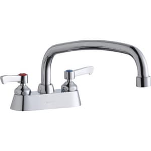 Elkay 4 in. Double Lever Handle Centerset Faucet with Exposed Deck ELK406AT12L2
