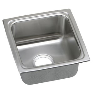 Elkay Gourmet® 1-Bowl Topmount Kitchen Sink with Center Drain in Lustrous Highlighted Satin ELFR1313