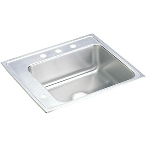 Elkay Lustertone® 1-Bowl Drop-In and Topmount Classroom Sink EDRKAD222060L