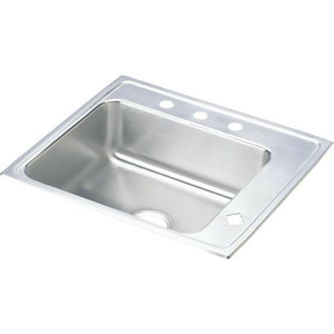 Elkay Lustertone® 1-Basin Drop-In and Topmount Utility Sink with Sound Deadening EDRKR2522R