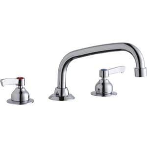 Elkay 3-Hole Deck Mount Food Service Centerset Faucet with Double Lever Handle and 8 in. Spout Reach ELK800AT08L2