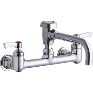 Elkay 2-Hole Wall Mount Utility and Service Centerset Faucet with Double Lever Handle ELK940VS07L2H
