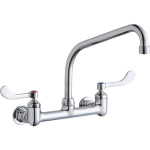 Elkay 2.2 gpm Double Lever Handle Centerset Faucet in Polished Chrome ELK940HA10T4H