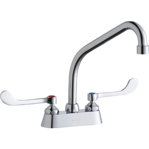 Elkay Double Wristblade Handle Centerset Faucet with Exposed Deck ELK406HA08T6