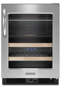Kitchenaid Architect® 5.4 CF 24 in. Beverage Center With Right-Hand Door Swing KKBCS24RS