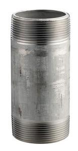 Merit Brass 3/8 in. Schedule 80 Threaded 304L Stainless Steel Nipple DS84SNC