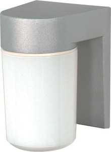 Nuvo Lighting 6-4/5 in. 100W Outdoor Wall Light in Satin Aluminum N77136
