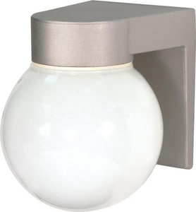 Nuvo Lighting 7-1/4 in. 100W Outdoor Wall Light in Satin Aluminum NUV77139