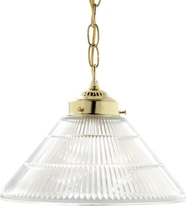 Nuvo Lighting 100W 1-Light Pendant Light Fixture in Polished Brass N76255