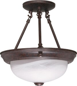 Nuvo Lighting 12 in. 2-Light Semi-Flushmount Ceiling Fixture N60208