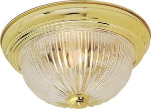 Nuvo Lighting 60W 3-Light Flushmount Ceiling Light with Clear Ribbed Glass N76093
