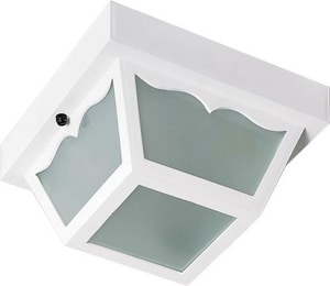 Nuvo Lighting 60W 2-Light 120V Carport Outdoor Ceiling Fixture N77879
