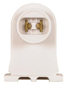 Satco 1-1/4 in. 1000V High Output Recessed Double Contact Base Fluorescent Plunger Socket Lampholder S801498