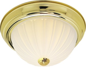 Nuvo Lighting 60W Medium Base 2-Light Flush Mount Frost Melon N76126
