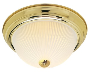 Nuvo Lighting 5 in. 60W 2-Light Medium E-26 Base Flushmount Ceiling Fixture in Polished Brass N76130