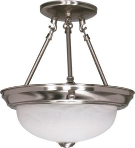 Nuvo Lighting 12 x 11-3/8 in. 60 W 2-Light Medium Semi-Flush Mount Ceiling Fixture NUV60200