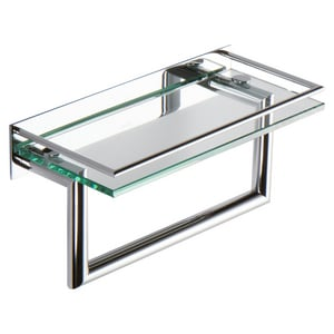 Ginger USA 12 in. Shelf with Towel Bar in Polished Chrome G2819RT12PC