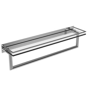 Ginger USA Surface 24 in. Shelf with Towel Bar in Polished Chrome G2819RT24PC