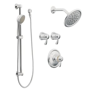 Moen ExactTemp® Thermostatic Vertical Spa with Three Lever Handle MTS270