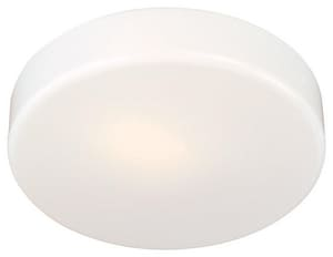 Minka-Lavery 13W 1-Light Flushmount Ceiling Fixture with Acrylicin Glass in White M86644PL