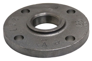 7-1/2 in. Threaded 125# Black Cast Iron Flange BCICF712