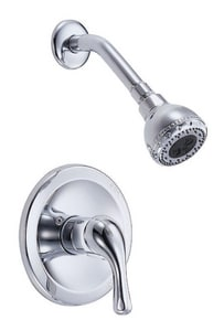 Danze Melrose™ 1-Hole Pressure Balancing Shower Trim Only and Valve with Single Lever Handle and Multifunction Showerhead DD500511