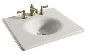 Kohler Iron/Impressions® Rectangular Cast Iron Vanity Top Bathroom Sink with Single Faucet Hole K3048-1