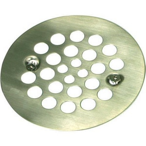 Monogram Brass® 4- 1/4 in. 1-Hole Tub/ Shower Screw- In Drain Cover with 304 Stainless Steel MB132997