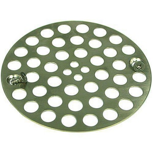 Monogram Brass 4 in. OD Shower Grid Strainer MB132965
