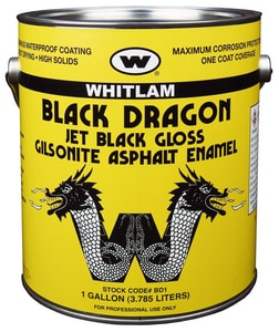 J.C. Whitlam Asphalt Paint in Black WBD1