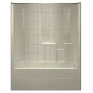 Aquarius Industries 60 in. Fiberglass Reinforced Plastic Tile Tub and Shower AG3206TSTILEWHT