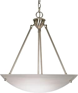 Nuvo Lighting 60W 3-Light Alabaster Glass Medium Pendant N60370