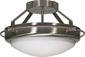 Nuvo Lighting Polaris 2 Light 60W 13-3/4 in. Semi Flush Mount N60609