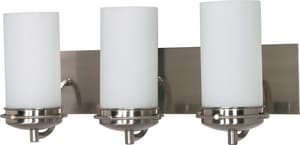 Nuvo Lighting Polaris 3 Light 100W 21 in. Opal White Glass Vanity Brushed Nickel N60613