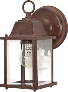 Nuvo Lighting 1 Light 60W A19 Outdoor Wall Cube Lantern Old Bronze N60637