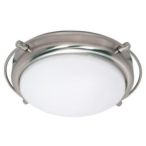 Nuvo Lighting Polaris 2 Light 13W 13-1/2 in. Flush Mount Ceiling Fixture Brushed Nickel N60491