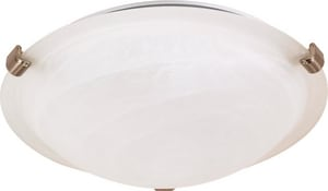 60W 1-Light Small Tri-Clip Dome Flushmount Ceiling Light N60270