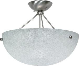South Beach 60W 3-Light Medium E-26 Incandescent Semi-Flush Ceiling Light with Water Spot Glass N60132