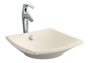 Kohler Escale® Square Vessel Bathroom Sink with Overflow K19047