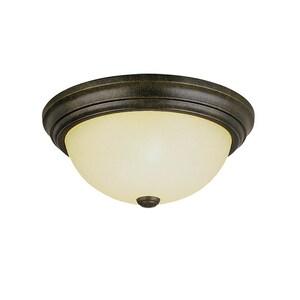 Millennium Lighting 5-1/2 x 13 in. 60 W 2-Light Medium Flush Mount Ceiling Fixture M5063