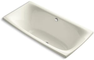 Kohler Escale® 24-1/8 x 72 x 36 in. 71 gal Drop-In Bathtub with Center Drain K11343