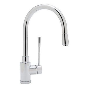 Blanco America Kontrole 2.2 gpm Single Lever Handle Deckmount Kitchen Sink Faucet Gooseneck Spout B44059