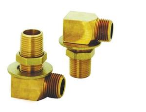 T&S Brass Install Kit 1/2 National Pipe Thread Nipple Locknut & Wash TB0230K