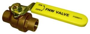 FNW 600 WOG 2-Piece Sweat Brass Full Port Ball Valve FNW411