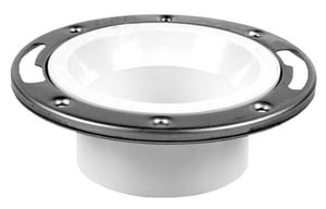 Oatey 3 x 4 in. Stainless Steel PVC Closet Flange Ring Less Cap O43495