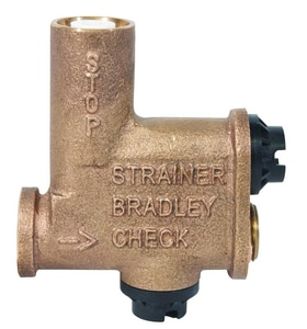 Bradley Corporation Metal Combination Straight Check Valve BS60003