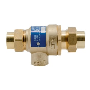 Watts Backflow Preventers with Dual Check Valves and Atmospheric Vent WBBFP