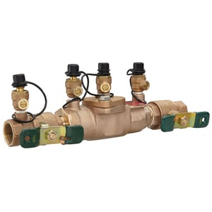 Watts Cast Bronze IPS Double Check Backflow Preventer with Ball Valve W007M1QTCT