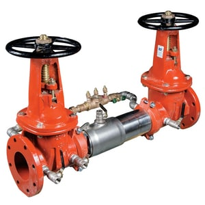 Watts Flanged x Grooved Stainless Steel Cross Hand Wheel Handle Backflow Preventer W757DCDAOSYLM